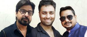 L -R Vijay Valbhnai, Suzad Iqbal Khan With Sonu Jain