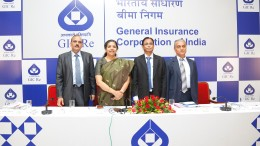 L-R - V C Jain - CFO & GM, Alice G Vaidyan - CMD, D R Waghela - GM and B N Narasimhan - GM, of General Insurance Corporation (GIC) Re.-1
