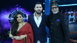Vidya Balan and Yuvraj Singh on Kaun Banega Crorepati 9 finale(1)