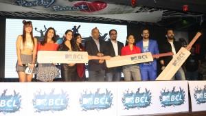 Kishwer Merchant, Anita Hassanandani, Ekta Kapoor, Nachiket Pantvaidya, Ferzad Palia, Shruti Ulfat, Himanshoo Malhotra and MAnu Punjabi at the launch of MTV Box Cricket League