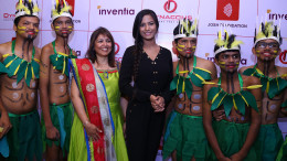 Audiologist & Speech Therapist Devangi Dalal with Poonam Pandey at the JOSH Foundation's inter-school dance competition for the hearing impaired