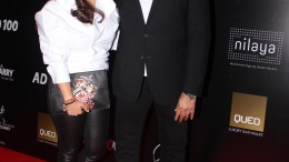 AD100 winner Abu Jani with friend at Architectural Digest India's AD100 awards