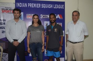 Rishad Pandole (Masters Champion), Gul Panag, Abhinav Sinha (Founder of Rolling Nicks Sports Foundation & Nawal Pandole (Vice-Chairman of CCI & Head of the CCI Squash Committee) - 2