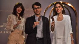 Himanshu Kanwar Head - Magnum Ice Cream, India, Hindustan Unilever Limited with Kalki Koechlin and Farah Khan at the MagnumXFarahKhan event