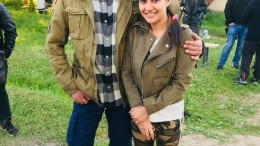 1. Lizaa Malik with Sanjay Dutt on the sets of Torbaaz
