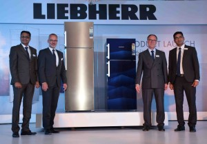 Mumbai June 06 :- German Engineering base Liebherr Appliances India Pvt. Ltd. today launched an exclusive range of Refrigerators in India. In pic Mr. Radhakrishna Somayaji, Chief Sales Officer, Liebherr Appliances India Private Limited, Guenther Sproll - International Head of Marketing & Mr. Jyoti Shrinivas, National Marketing. ( pic by Ravindra Zende )