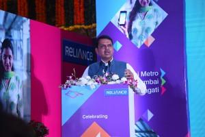 CM Devendra Fadnavis addressing at the Mumbai Metro One 4th anniversary