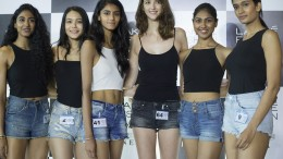 From L to R - LFW Model Audition winners, Priti Jana, Rewati Chetri, Dechka Asthakumar, Mariana Falaschi, Rishitha Koruturu, Sharvi Bhujbal