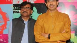 Sanjay Raut and Uddhav Thackeray 4 at Sanjay Raut's movie Thackeray's song recording