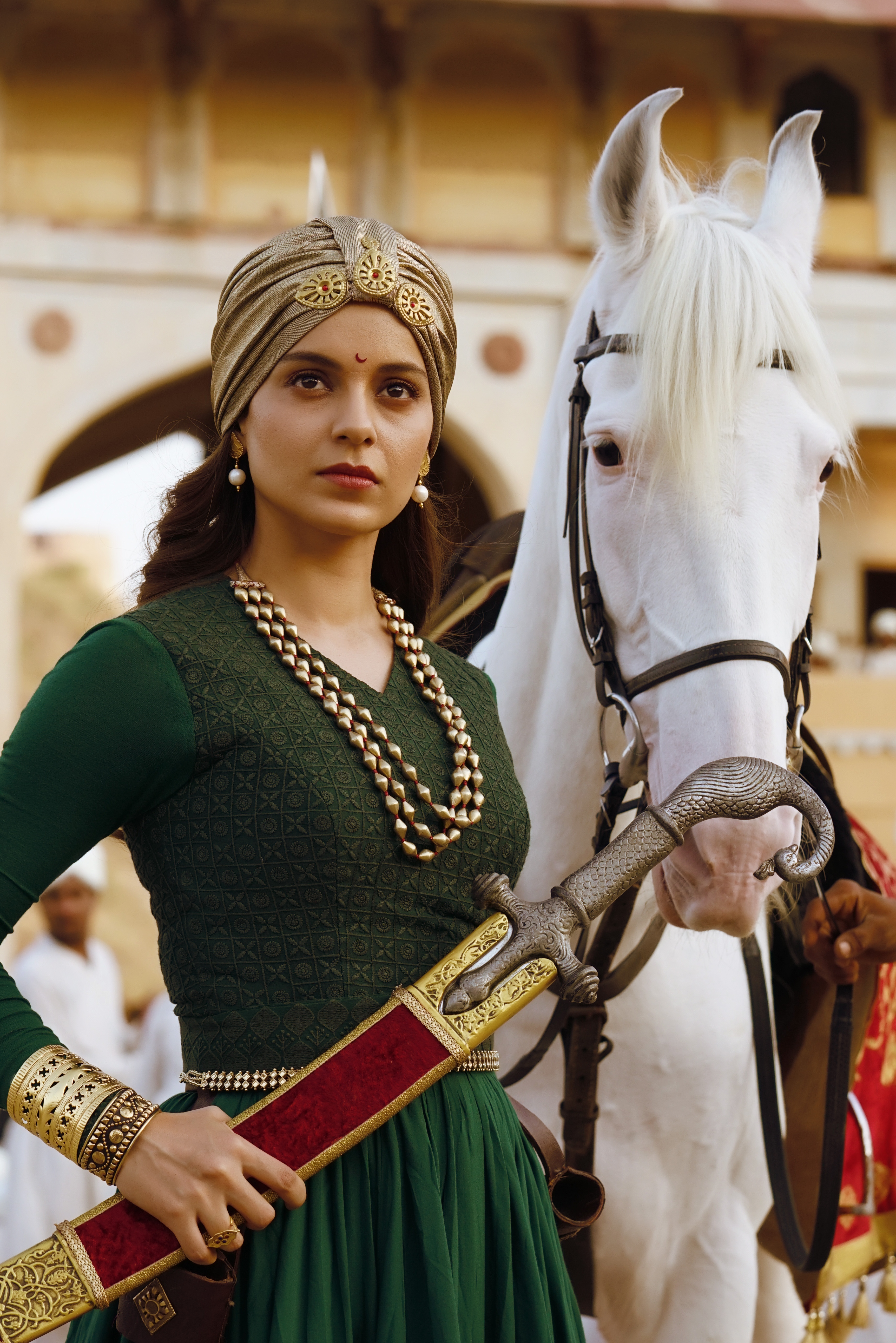Celebrity Kangana Ranaut in Amrapali Jewellery for the movie- Manikarnika