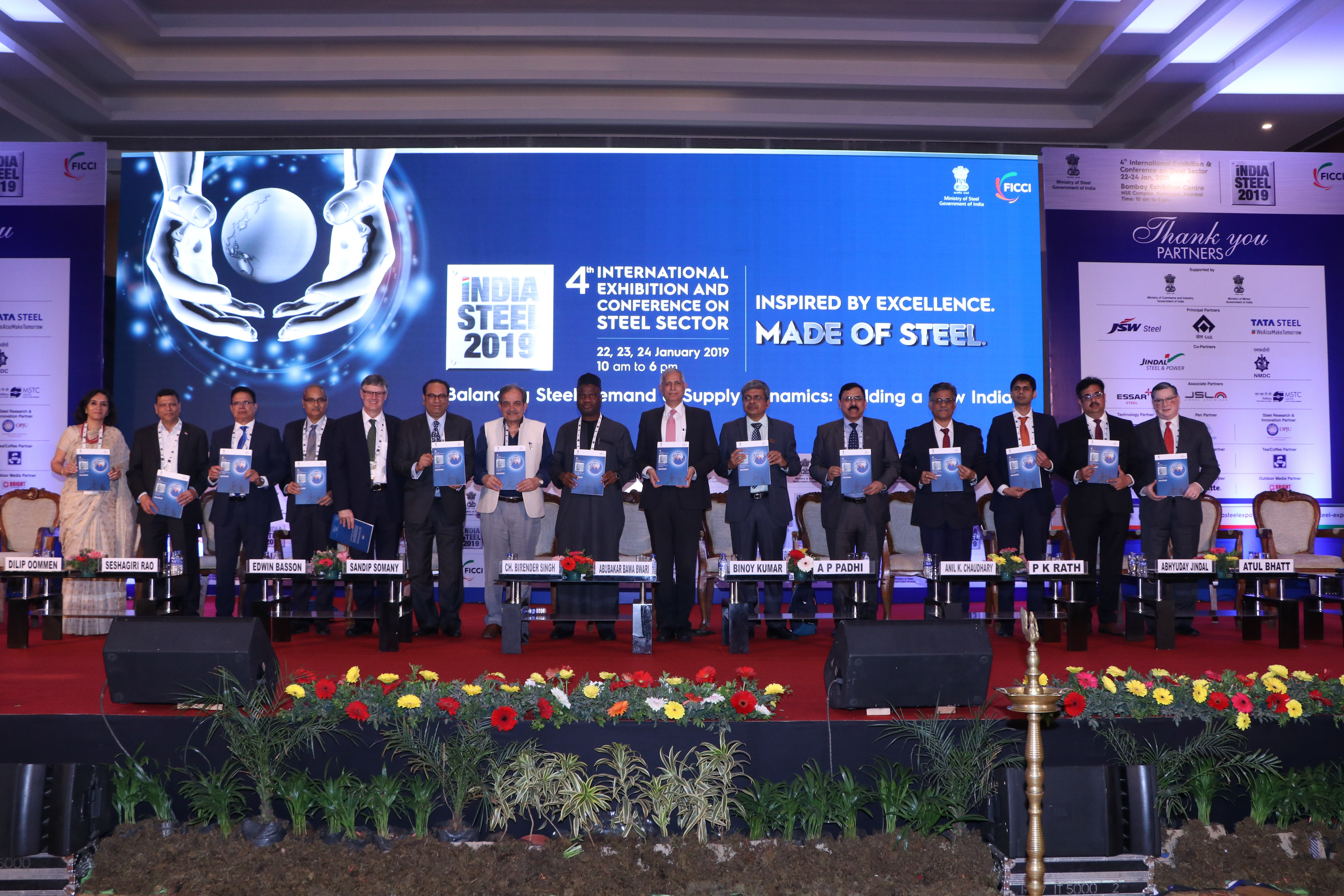 Release of a Souvenir at FICCI's India Steel 2019