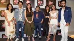 1. Malika Sherawat, Tushar Kapoor, Shefali Zariwala, Kiku Sharda, Saba Saudagar, Sakshi, during the announcemnet of ALT Balaji's BOO Sabki Phategi !! KPP_9922