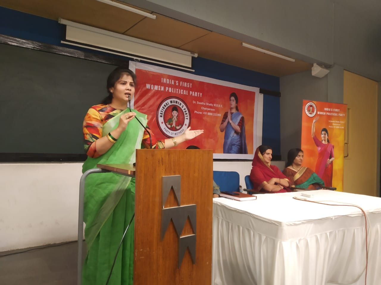 Dr Swetha Shetty, MBBS, Chairperson, National Women's Party1