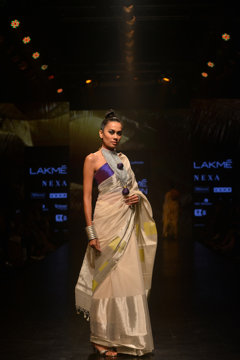 LFW Fashup by fashion livelihoods Anam X Rangsutra ,Anna, Ereen revolution on Day 2 at the Lakme Fashion Week Summer Resort 2019 at Jio Garden in Mumbai, India on January 31, 2019. Photo : FS Images / Lakme Fashion Week / IMG Reliance