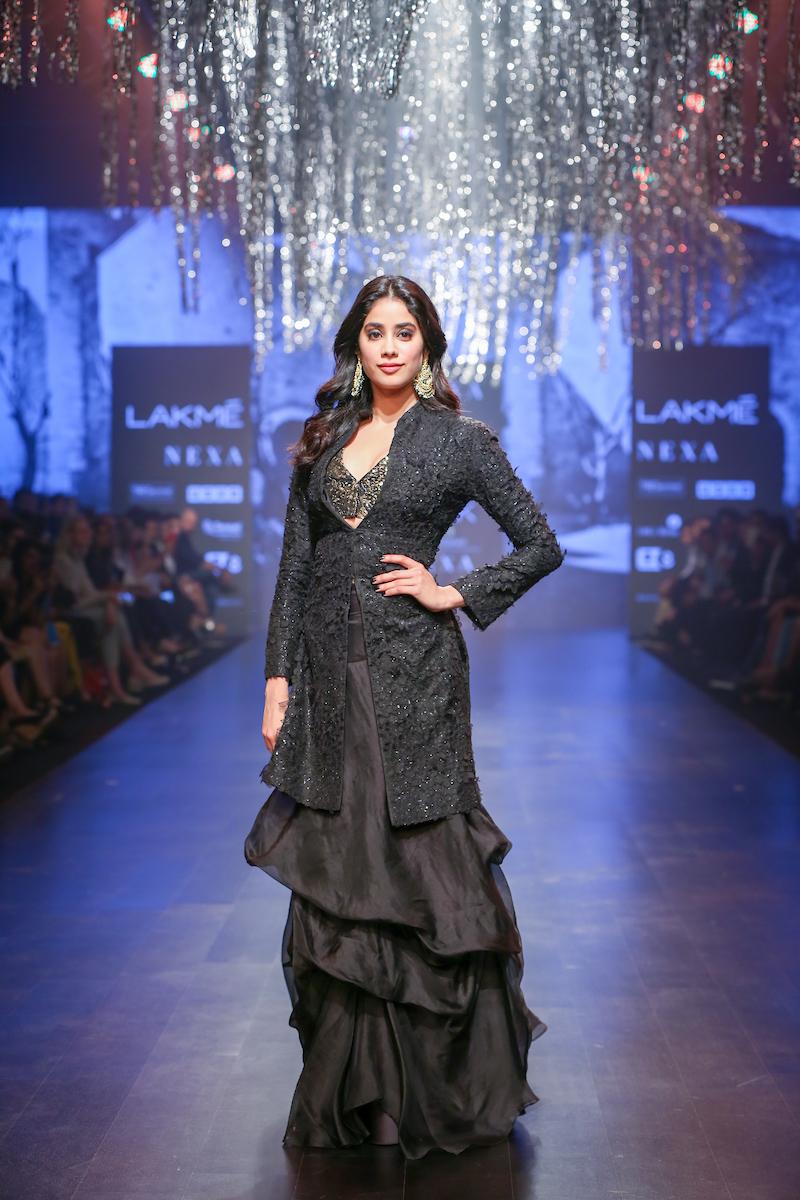 "Model walks the ramp during ""NEXA Presents Raghavendra Rathore Jodhpur"" show at the Runway by designer - Raghavendra Rathore during the Lakme Fashion Week Summer Resort 2019 at Jio Gardens in Mumbai, India on February 2nd, 2019. Photo : FS Images / Lakme Fashion Week / IMG Reliance"