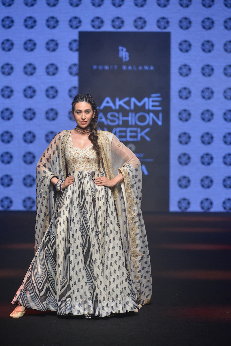 "Model walks the ramp during ""Punit Balana / Misfit Panda /Agami by Neha Agarwal "" show at the Studio by designers -  Neha Agarwal (Agami), Juveca Panda (Misfit Panda) and Punit Balana during the Lakme Fashion Week Summer Resort 2019 at Jio Gardens in Mumbai, India on February 3rd, 2019. Photo : FS Images / Lakme Fashion Week / IMG Reliance"