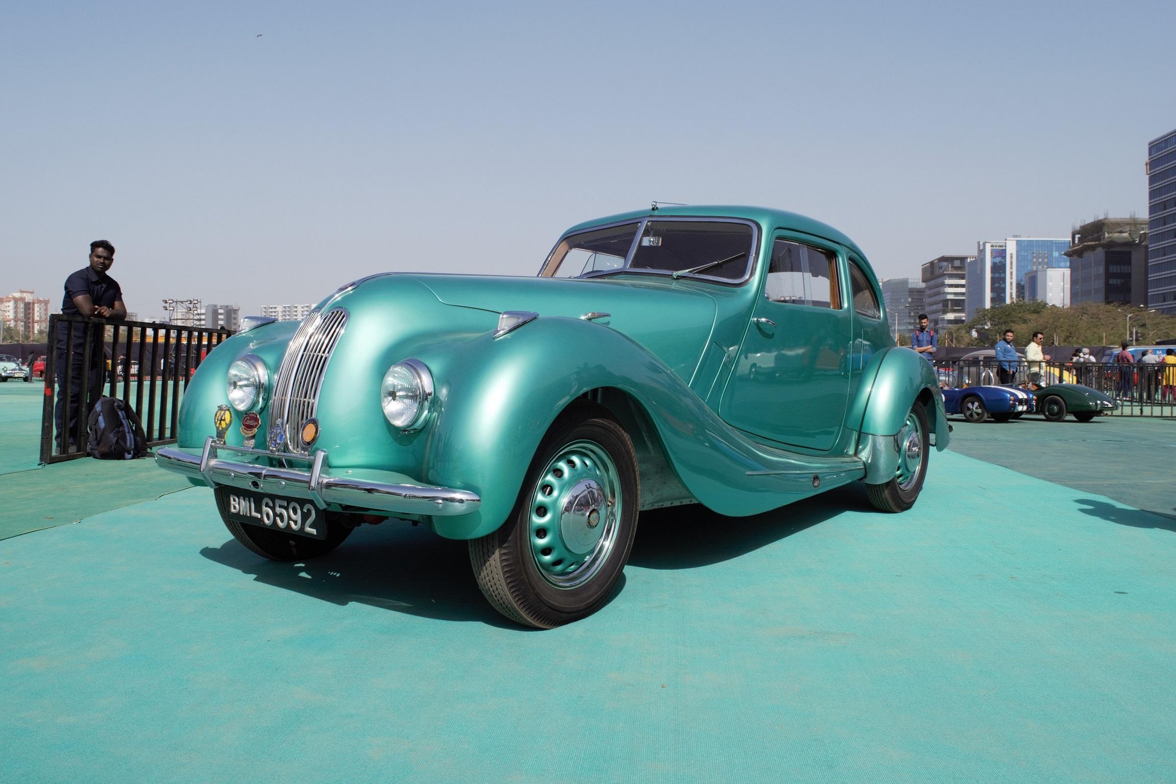 Vintage car display at Parx Auto Car show