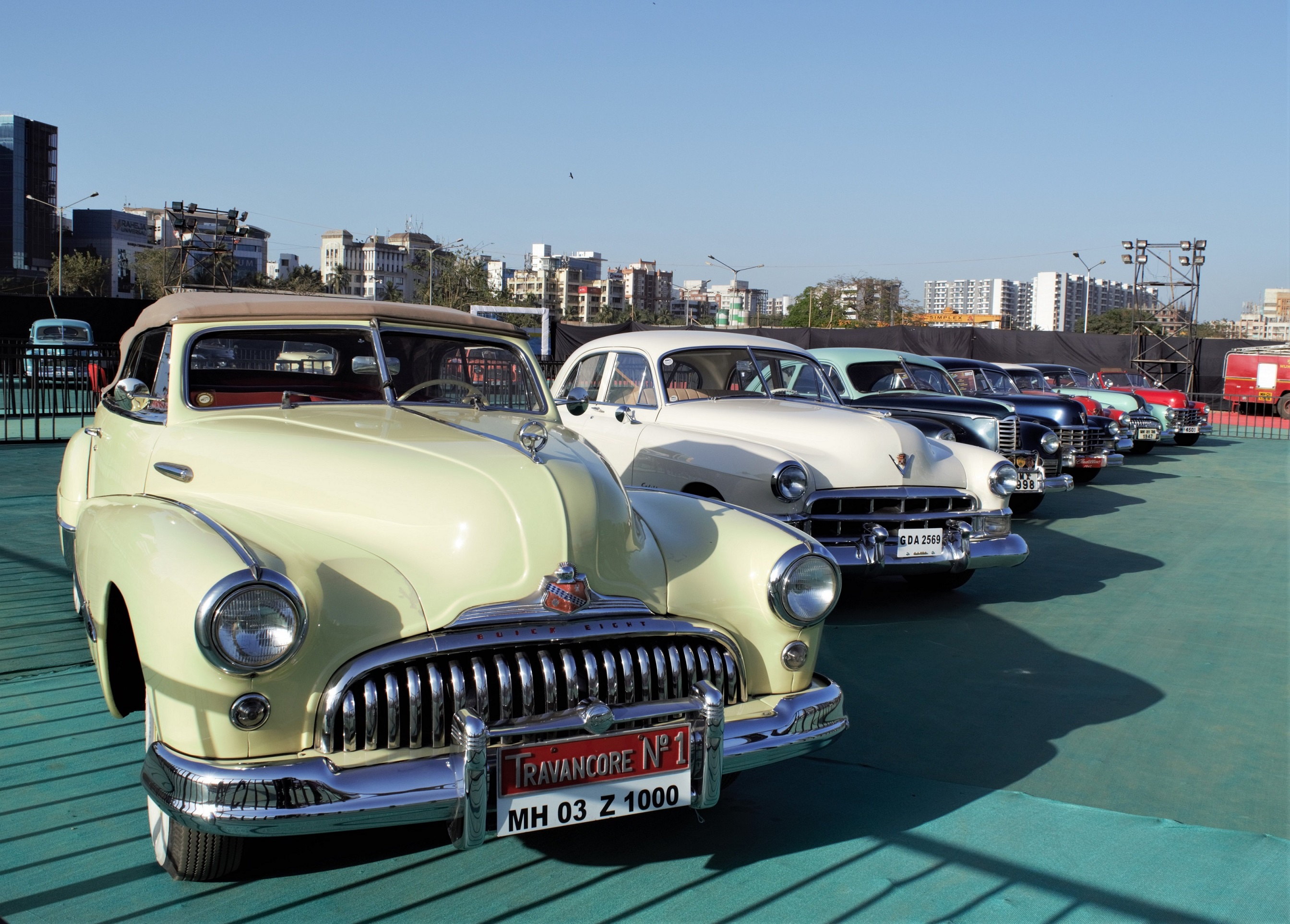 Vintage cars display at the Parx Auto Show 2019