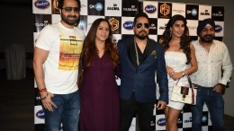 5. DJ Khushi, Rajitta Hemwaani, Mika SIngh, Aarti Khetarpal, Raj Suri during his new single BELLY RING song launch KPP_9025