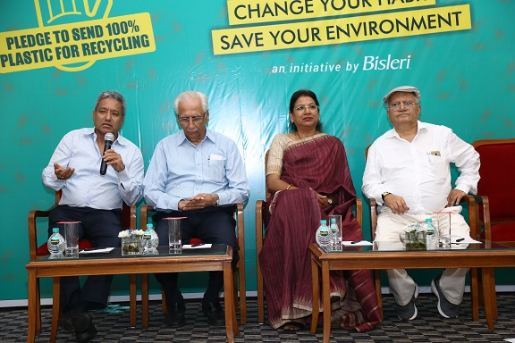 Ramesh Chauhan (Chairman - Bisleri International), Anjana Ghosh (Director Marketing and OSR- Bisleri International), Vijay Merchant (Member of Governing Council, ICPE), Aditya Dalmia (Owner- Dalmia Polypro